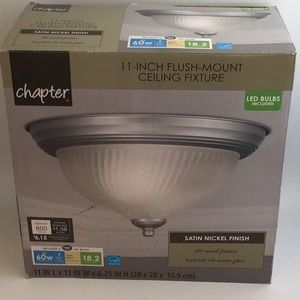 New Chapter 11 in. Flush Mount Ceiling Fixture